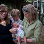 A visit from Heather the midwife on day five